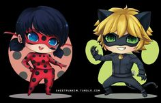 Chibi Ladybug and Cat Noir! Kawaii Chibi, Kawaii Anime, Miraculous Ladybug, Cumpleaños Lady Bug, Ladybug Y Cat Noir, Ladybug Anime, Complicated Love, Marinette And Adrien, Barbie House