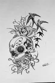 Kuvahaun tulos haulle half butterfly half skull tattoo