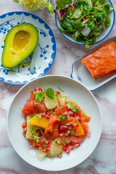 ... and heart of palm salad with tomato avocado and lime with or without