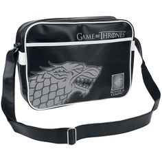 Game Of Thrones Shoulder Bag »Stark Flight Bag« | Buy now at EMP | More Fan merch Shoulder bags available online ✓ Unbeatable prices!