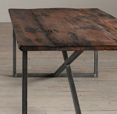 Salvaged Boatwood Dining Tables | | Restoration Hardware