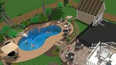 pool and patio decorating ideas on a budget | Inground Swimming Pool Design Ideas-Pool Company Woburn MA