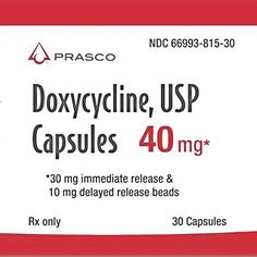 Doxycycline is an antibiotic that is used in the treatment of a number of types of infections caused by bacteria and protozoa. It is useful for bacterial pneumonia, acne, chlamydia infections, early Lyme disease, cholera and syphilis. Eye Infections, Urinary Tract Infection, Eye Treatment, Lyme Disease, Number, Products, Beauty Products