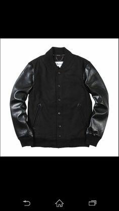 Black on black baseball jacket