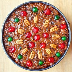 Old English Fruitcake - Liv: replace all candied fruit with dried fuits and nuts