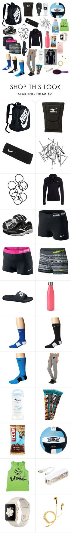 """""""What's in my volleyball bag"""" by southernannabelle on Polyvore featuring NIKE, Mizuno, Monki, H&M, S'well, Triple C Designs, PhunkeeTree and The Wet Brush"""