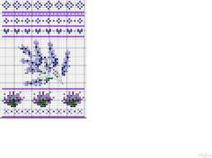 lavender cross stitch chart