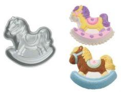 Free Shipping - Super Cute Wilton Rocking Horse Cake Pan Mold Bakeware 2105 2009 Birthday Baby Shower | eBay
