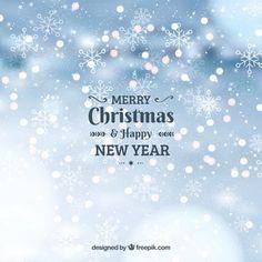 Fondo bokeh de feliz navidad