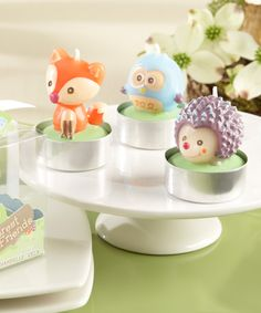party favors. Forest Friends Woodland Candles Set | Daily deals for moms, babies and kids