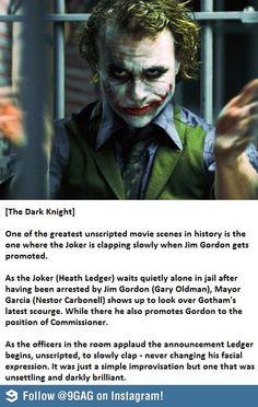 Respect for Heath Ledger.