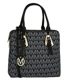 Another great find on #zulily! Black Embellished Logo Tote #zulilyfinds