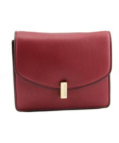 Kenneth Cole Reaction Winged Victory Women   PVC Red Messenger NWT