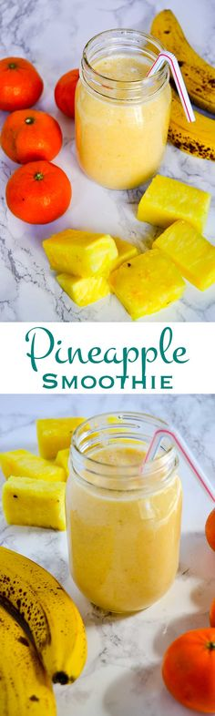 This simply delicious 3 ingredient pineapple smoothie is a delicious way to…