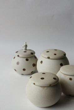 polka dot lidded container | Flickr - Photo Sharing!
