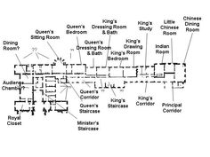 Some floor plans of Buckingham Palace. Below is the ground floor plan of Buckingham Palace. This plan excludes the Queen's Gallery and the. Buckingham Palace Floor Plan, Buckingham Palace London, The Plan, How To Plan, Education Architecture, Architecture Plan, Wales, The Queen's Gallery, Peterhof Palace