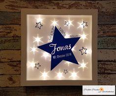 Gastgeschenke - Beleuchteter Bilderrahmen Geschenk Stern/Sterne  - ein Designerstück von PerfektePuschen bei DaWanda