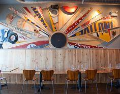 Great art, urban #interiordesign #restaurant #decor