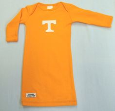 Hey, I found this really awesome Etsy listing at https://www.etsy.com/listing/183178054/tennessee-volunteer-baby-layette-gown
