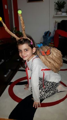 The snail costume..our way ☺