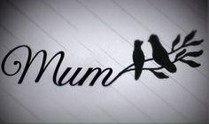 Mum and birds tattoo design. Love this!
