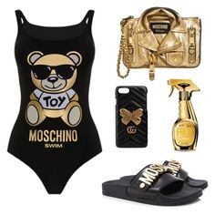 """""""Untitled #4"""" by raluca-daniela-i on Polyvore featuring Moschino and Gucci"""