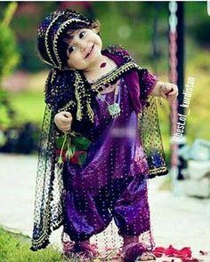 Adorable Kurdish Girl in traditional Dress.