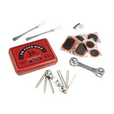 Gentlemens Hardware Bicycle Repair Kit - Creative gifts for all occasions must-have bike aficionado Gentlemen Hardware Bicycle Tool Puncture Repair impeccab
