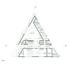 Museum Architecture, Architecture Student, Concept Architecture, Triangle Building, Elevation Drawing, Hand Sketch, Architect Design, Design Projects, Floor Plans