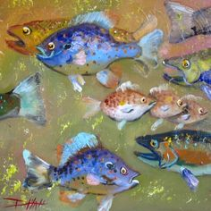 Confussion of Fish, painting by artist Delilah Smith