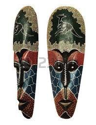 Resultado de imagen para mascaras talladas en hojas de palmeras