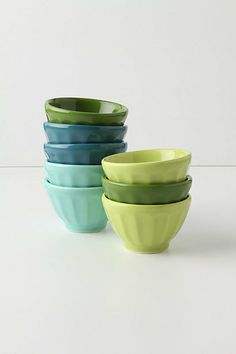 Mini Latte Bowls - Anthropologie.com  I want these little bowls and I can't even really explain why...