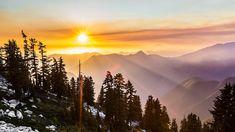 Montañas, Puesta De Sol, Paisaje, Escénico, Colorido
