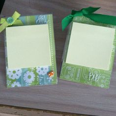 Acrylic frame post it note