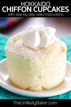These Hokkaido chiffon cupcakes don't need frosting to taste amazing! They're a joy to make too. Watch the video to see how easy they are to make. They're great for Easter, Mother's Day, baby showers…  More