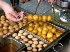 You can't say you've been to Hong Kong without having tried fish balls. #HongKong #HK #streetfood