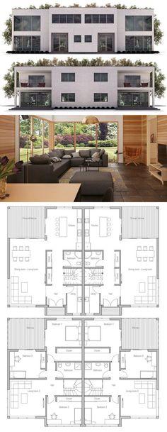 Duplex House Plan CH399D