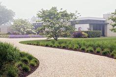 gravel path in a minimalistic garde design