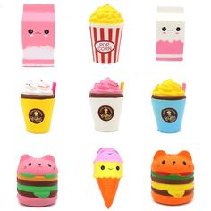 "Universe of goods - Buy Jumbo Squishy Toys Children Slow Rising Antistress Toy Cat Hamburger Fries Squishies Stress Relief Toy Funny Kids Gift Toy"" for only USD. Diy For Kids, Gifts For Kids, Hamburger And Fries, Sand Toys, Silicone Reborn Babies, Stress Relief Toys, Practical Jokes, Squishies, Beading Supplies"