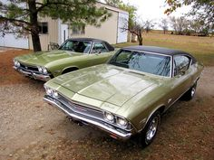 Twins - 68 Chevelle and 68 SS 396 El Camino