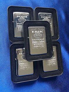 Groomsmen gift set - 5 Personalized lighters - 5 Groomsmen gifts - Bridesmaid Wedding gifts -4 Best man Wedding gifts - Laser engraved