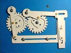 ピックアンドプレースユニットのペーパークラフトです カッティングプロッターで切り4枚を貼りつけ動作する ようにしました アライエンジニアリング http://www.araieng.com