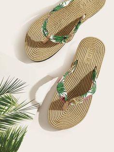 Couple Slipper Summer Tree Print Flip Flops Unisex Chic Sandals Rubber Non-Slip House Thong Slippers