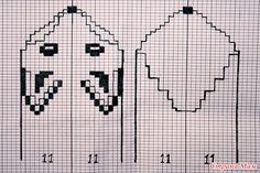 Kaavio kettulapasiin tai sukkiin/ Knitting chart for fox mittens or socks. Knitted Mittens Pattern, Baby Sweater Knitting Pattern, Knit Mittens, Knitting Charts, Knitted Gloves, Knitting Stitches, Knitting Socks, Baby Knitting, Knitting Patterns