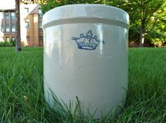 Robinson Ransbottom Antique 3 Gallon Salt Glaze Blue by modalabode