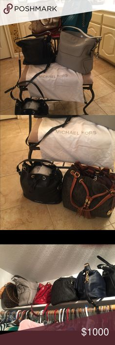 Michael Kors purses. Like new or new I have a host of Michael Kors bags. All of new or like new. Prices range fro 115 to 150. Michael Kors Bags Shoulder Bags