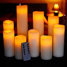 Buy 2018 Flameless Candle LED Candle Night Light Lamp Wedding Decoration Flameless Tea Light Candle Party Wedding Product at Wish - Shopping Made Fun Led Candle Lights, Flameless Candles, Tea Lights, String Lights, Pillar Candles, Outdoor Chandelier, Thing 1, Hacks, Candle Set