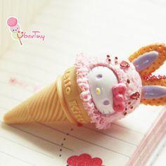 Hello kitty ice cream re-ment pen