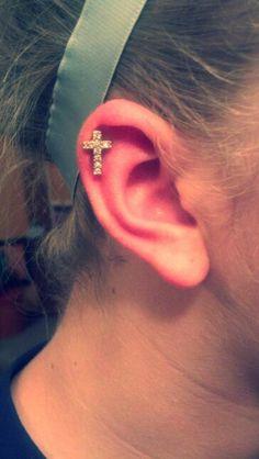 18G Earring Lip Ring Zircon Helix Tragus Piercing Cartilage Stud Body Jewe  FD