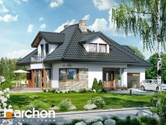 Dom w czarnuszce 2 Home Building Design, Building A House, House Design, House Extensions, Facade House, Design Case, Home Fashion, Modern Classic, My Dream Home